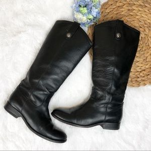 Frye Melissa Button Leather Tall Riding Boots 7.5
